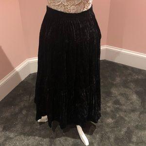 Vintage thick velvet skirt